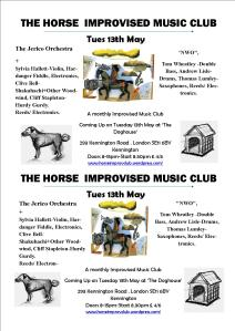 The Horse Improv Club At The Dog House Tues May 13th